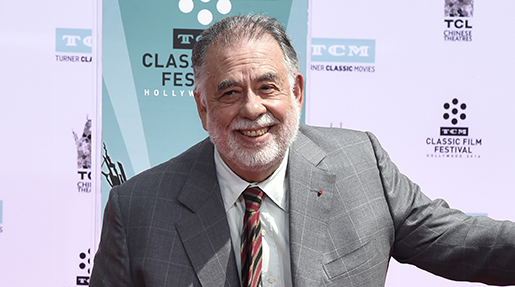 Francis Ford Coppola poses after signing his name in cement during a handprint and footprint ceremony at the TCL Chinese Theater on Friday, April 29, 2016, in Los Angeles. (Photo by Chris Pizzello/Invision/AP)
