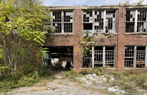 I Youngstown står gamla industribyggnader och förfaller i stans utkanter. Foto: Jonas Cullberg. Klicka på bilden för att se den större.