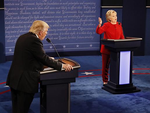 Hillary Clinton angrep Donald Trump för att han vägrat offentliggöra sina skattebesked i den första tv-debatten i september. Foto: Rick T. Wilking