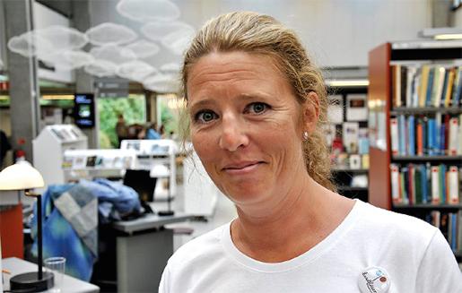 Cecilia Lindgren, bibliotekarie och initiativtagare till Lund läser. Foto: Joakim Stierna/Skånska Dagbladet