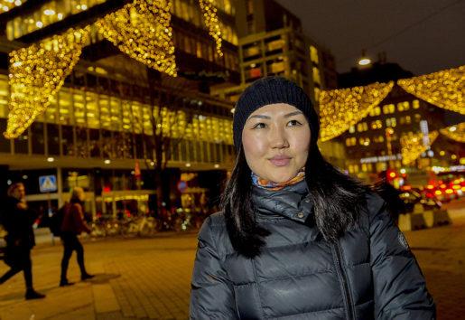 Ett extra lönepåslag skulle betyda mycket, säger Tserenkhuu Byambadorj, hotellstäderska med låg lön.Foto: Jonas Ekströmer