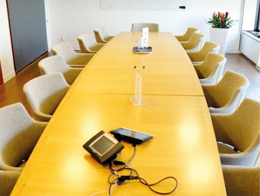 Här, i rummet Avtalet hos Teknikföretagen, finns epicentret för svensk lönebildning. Där förs industriförhandlingarna mellan IF Metall, Sveriges Ingenjörer och Unionen å ena sidan, och Teknikföretagen å den andra. Foto: Martina Frisk