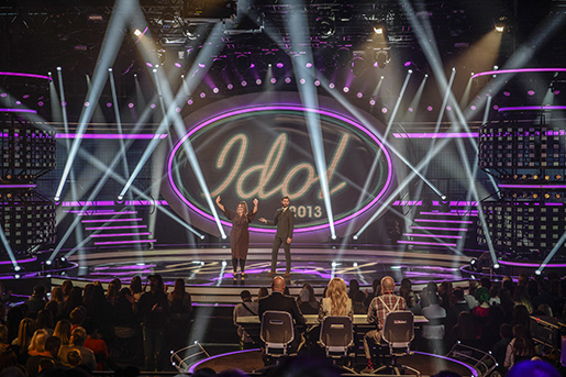 "STOCKHOLM 20130927 Fˆrsta veckofinalen i ""Idol"" i TV4 i studio i SpÂnga, Stockholm pfredagen. Foto Bertil EnevÂg Ericson / TT / kod 10000"