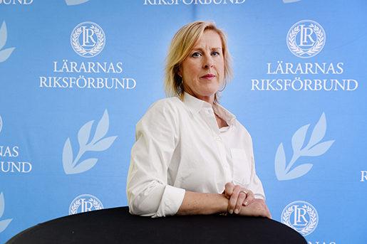 STOCKHOLM 2016-05-21 ≈sa FahlÈn valdes till ny ordfˆrande fˆr L‰rarnas Riksfˆrbund (LR) vid fackfˆrbundets kongress plˆrdagen. Foto: Anders Wiklund / TT / kod 10040