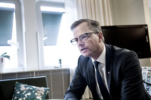 STOCKHOLM 20160909 N‰rings- och innovationsminister Mikael Damberg (S) ber‰ttar om det kvoteringsfˆrslag som regeringen nu gÂr fram med till riksdagen. Foto: Marcus Ericsson / TT / Kod 11470