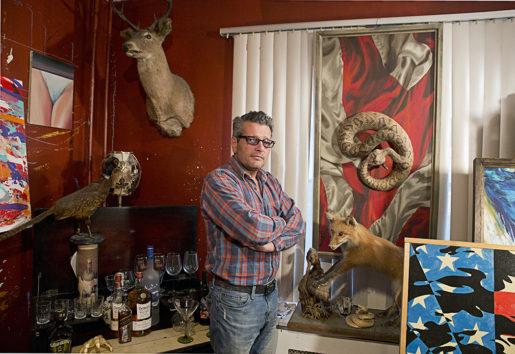 Scott LoBaido är populär i högerkretsar genom att vara något så ovanligt som en konstnär som gillar Trump.