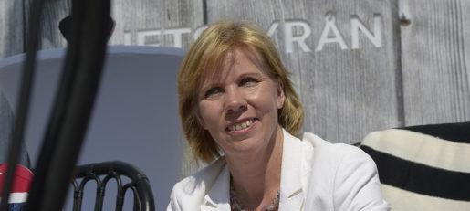 Anna-Maja Henriksson som justitieminister 2014. Foto: Janerik Henriksson/TT