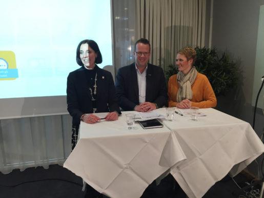 Ulrika Lindstrand, Sveriges Ingenjörer, Martin Linder, Unionen och Anna-Karin Hatt, Almega. Foto: Mårten Nilsson