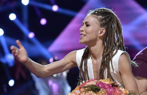 MALM÷ 2017-02-11 Mariette och Benjamin Ingrosso gick vidare direkt till finalen vid Melodifestivalens andra delt‰vling i Malmˆ arena. Foto: Jonas Ekstrˆmer / TT / Kod 10030