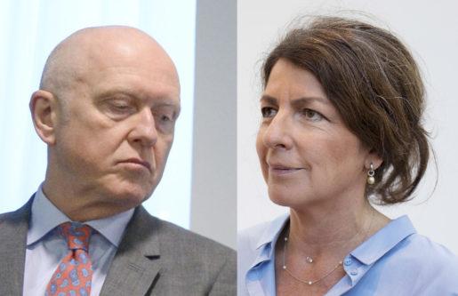 Peter Jeppsson och Bettina Kashefi, Svenskt Näringsliv. Foto: TT