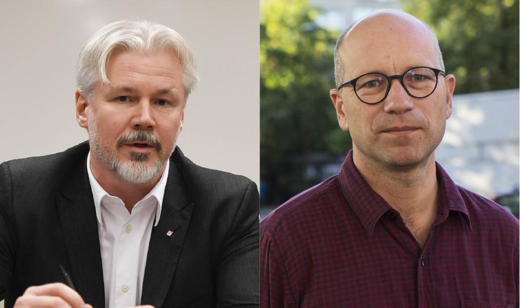Torbjörn Johansson och Ola Petterson, LO. Foto: TT