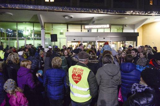 Gravida kvinnor och andra sympatisörer ockuperade sjukhuset i Sollefteå i protest mot nedläggningen av förlossningsavdelningen. Foto: Izabelle Nordfjell/TT