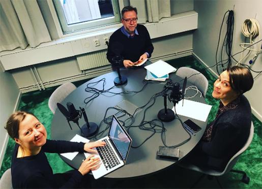 Jenny Berggren, Staffan Julius och Linda Flood. Foto: Anni Alm
