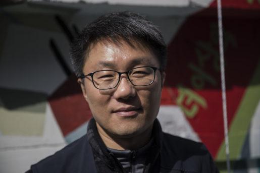 Lee Hying-jin är fackordförande för tillfälliganställda på varvet i Ulsan.