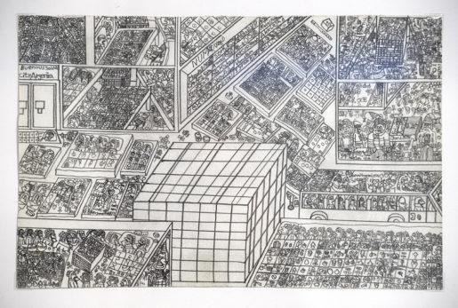 En av Kaj Franklins tusentals icke namngivna blyertsteckningar.Foto: Ulf Palm (klicka på bilden för att se den större)