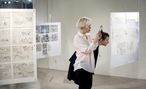 Konstnärerna Johanna Hästö och Karin Edvall har närstuderat Kaj Franklins bilder, som de lyfter fram i en nyutgiven bok. Johanna Hästö är också curator för utställningen.