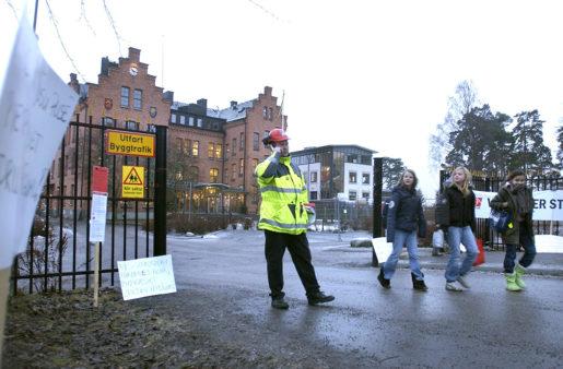 Lex Laval är uppkallad efter konflikten kring det lettiska företaget Lavals skolbygge i Vaxholm 2004, då Byggnads försatte arbetsplatsen i blockad. Foto: Claus Gertsen/TT