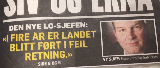 Intervju med Hans-Christian Gabrielson i tidningen Dagbladet på måndagen. Foto: Linda Flood