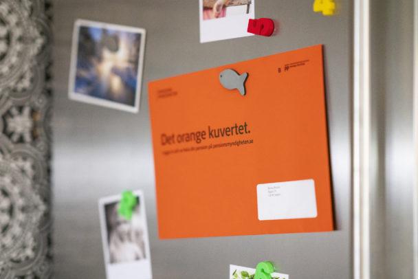 Pensioner Pensionsmydingheten Orange Kuvert Pengar