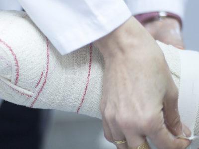 Vård efter arbetsplatsolycka