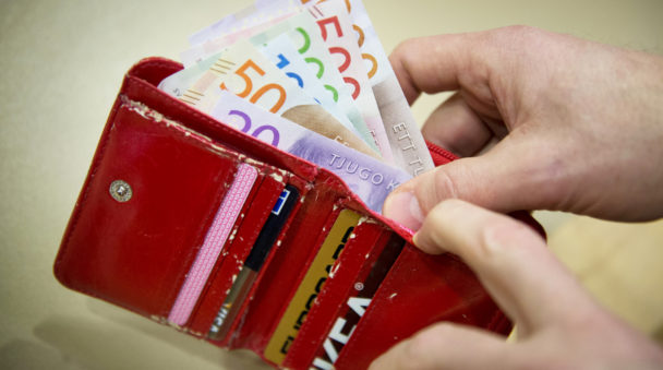 Pengar i plånbok.
